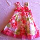 Bonnie Jean Size 5 Orange/Green Summer/Party Dress