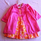 Jillian's Closet Size 4t Pink/Orange Dress and Coat 2 Pc.