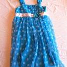 Amy Byer Size 14 Blue w/ White Polka Dots