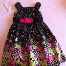 Bonnie Jean Size 7 Black Polka Dot Butterfly Border Print