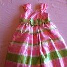 Bonnie Jean Size 6 Pink/Green/White Dress