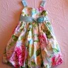 Bonnie Jean Size 7 Blue/Green/Pink Floral Bubble Skirt