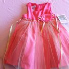 Bonnie Jean Size 3T Coral/Light Green Linen Tulle