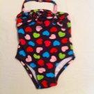 Girls Circo Size 18mos Brown w/Multicolored HeartsUPF 50+