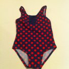 Girls Circo Size 18mos. Navy with Red Polka Dots UPF 50+