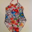 Girls 1 Pc. Size 6X Jantzen White with Multicolor Flowers and Heart Design