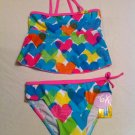 Arizona Size 6.  2 Pc. Multicolor Hearts UPF 50 Protection