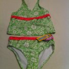 Arizona Size 6.  2 Pc. Green and Pink Floral UPF 50 Protection