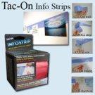 "TAC-ON INFO STRIPS 1.5"" X 12´ BLACK"