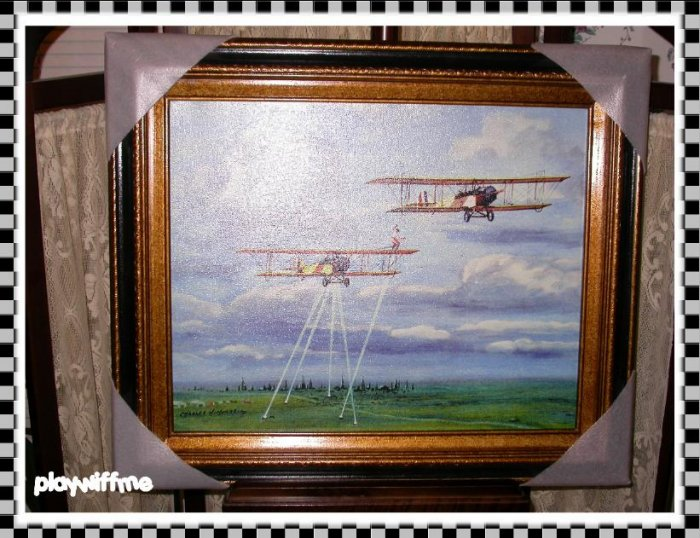 Charles Hubbell Framed Gilcee On Canvas