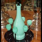 Loetz Style Czech Art Deco Decanter Set - Signed - RARE