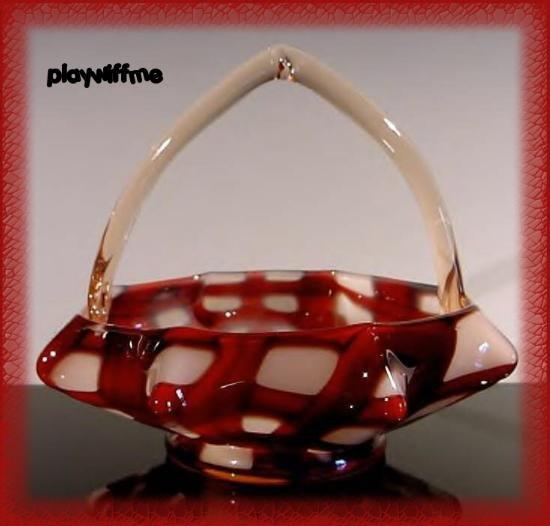 Kralik Loetz Decor Basket Vase - MAGNIFICENT Art Nouvea