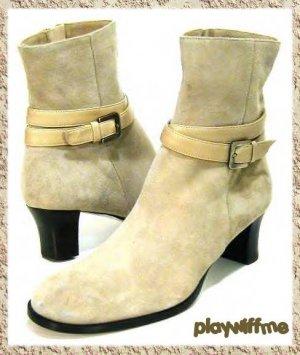 Taryn Rose Beige Ankle Boots - Size 7 Medium