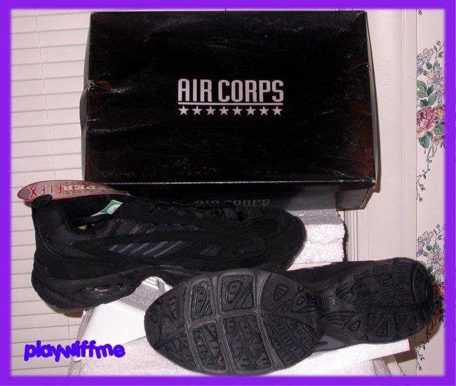 Air Corps Men's Athletic Shoes - Size 10 - Black