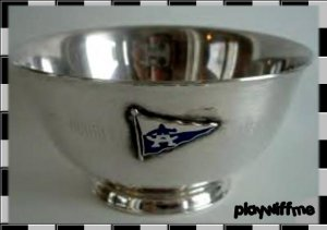 Vintage Silver Bowl - Silverplate With Attatched Logo