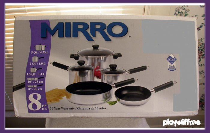 Mirro 8-Piece Teflon Coated Cookware Set - NEW IN BOX