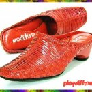 Modellista Red Mules Shoes - Size 5.5 Medium