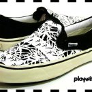 Evisu Black & White Canvas Shoes - New - Size 10