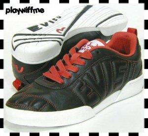 Evisu Black Stine Mens Shoes - Size 10