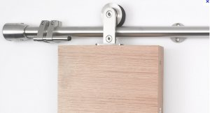 Assorted top hung stainless steel wood sliding door fitting set with free  shipping