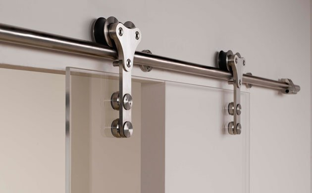 Modern Barn Style Glass Sliding Door Hardware With Free