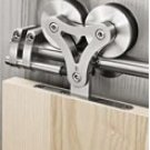 Heavy Duty Barn Sliding Wood Door Hardware with Free Shipping