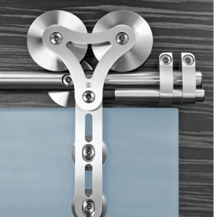 Heavy Duty Barn Style Glass Sliding Door Hardware With Free Shipping
