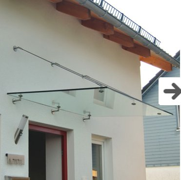 Modern Glass Awning System
