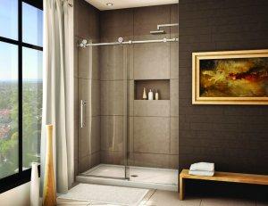 Brushed Stainless Steel Frameless Sliding Shower Door Hardware