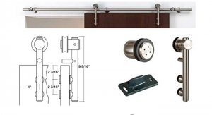 Stainless Steel Sliding Door System For Sliding Wood Door With Free Shipping