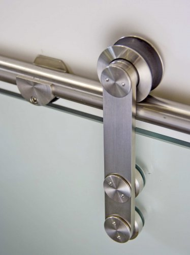 "Stainless Steel Sliding Door Hardware For Glass Door With Free Shipping(98.4"" track)"
