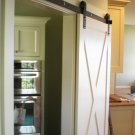 Rustic barn door hardware with ORB finish