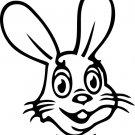 Bunny Rabbit Custom Vinyl Sticker Decal, Car Decal, Bumper Sticker, Laptop Decal, Window Sticker