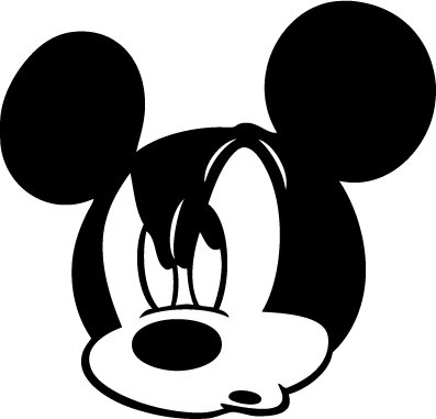 Mickey Mouse Custom Vinyl Sticker Decal 002, Car Decal, Bumper Sticker, Laptop Decal, Window Sticker