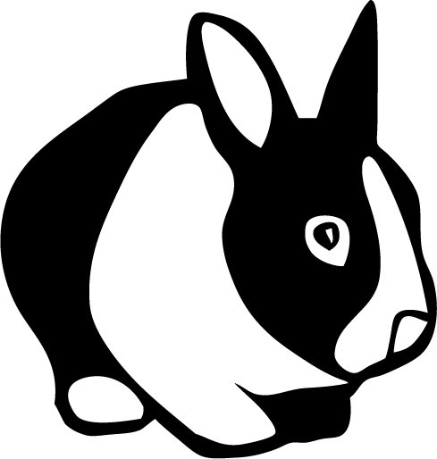 Rabbit Vinyl Sticker Decal, Car Decal, Bumper Sticker, Laptop Decal, Window Sticker