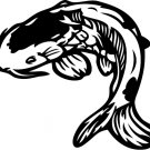 Koi Fish Vinyl Sticker Decal, Car Decal, Bumper Sticker, Laptop Decal, Window Sticker