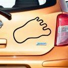 Yeti Monster Footprint Vinyl Sticker Decal, Car Decal, Bumper Sticker, Laptop Decal, Window Sticker