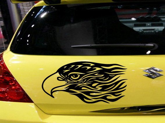 Eagle Custom Vinyl Sticker Decal 003, Car Decal, Bumper Sticker, Laptop Decal, Window Sticker