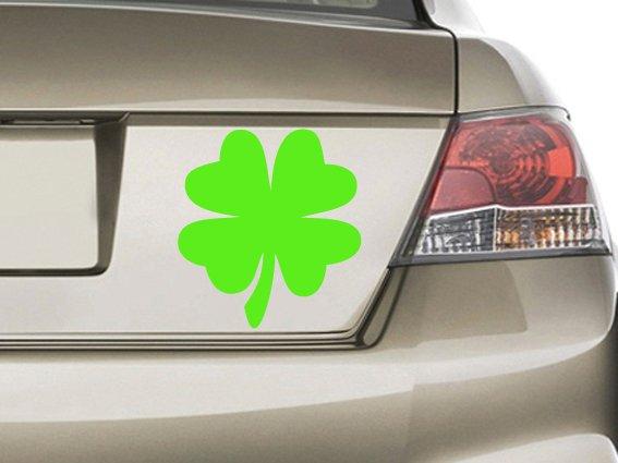 Clover Vinyl Sticker Decal, Car Decal, Bumper Sticker, Laptop Decal, Window Sticker