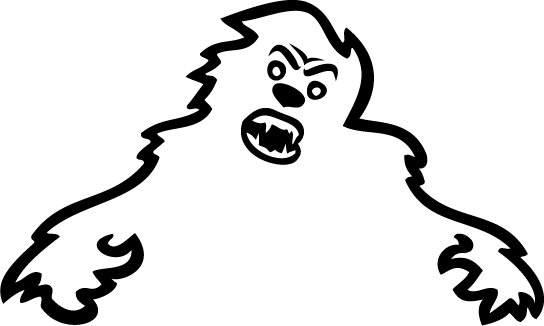 Skoda Yeti Sad Monster Custom Vinyl Sticker Decal, Car Decal, Bumper Sticker, Window Sticker