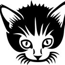 Cute Cat Vinyl Sticker Decal 003, Car Decal, Bumper Sticker, Laptop Decal, Window Sticker