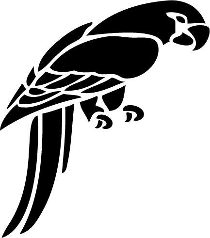 Parrot Custom Vinyl Sticker Decal 001, Car Decal, Bumper Sticker, Laptop Decal, Window Sticker
