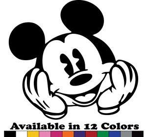 Mickey Mouse Vinyl Sticker Decal - Car Decal, Bumper Sticker,Laptop Decal 667-2