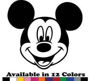 Mickey Mouse Vinyl Sticker Decal - Car Decal, Bumper Sticker,Laptop Decal 567-2