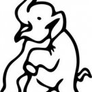 Elephant Vinyl Sticker Decal - Car Decal,Bumper Sticker,Laptop Decal,Wall Decal