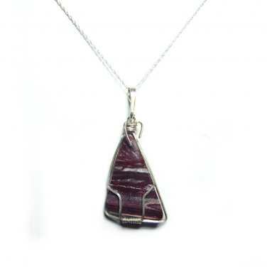 Cabernet Jasper pendant with chain