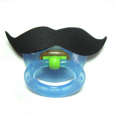 Black mustache pacifier 0 to 6 months #405