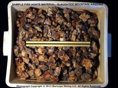1 Pound Fire Agate Rough Slaughter Mountain Arizona Gemstone Lapidary Gem SLR000
