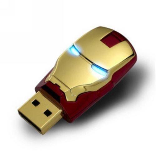 New LED Marvel Avengers Iron Man 64GB USB 2.0 Flash Pen Drive 64G Memory Stick