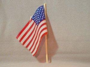 12 - Plastic American Flags